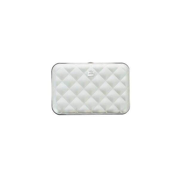 Дамски портфейл OGON Quilted Button, сребрист