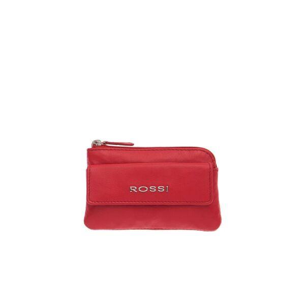 Дамско портмоне ROSSI, червено с цип