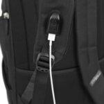 Раница Swissdigital, отделение за лаптоп, USB порт, черна