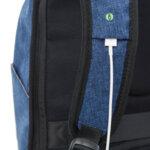 Раница Swissdigital, джоб за лаптоп, USB порт, синя