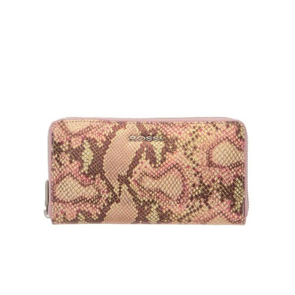 Дамско портмоне ROSSI, розово с релеф