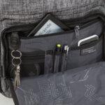 Раница Swissdigital, джоб за лаптоп, USB порт, сива
