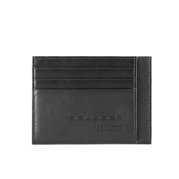 Калъф за кредитни карти Piquadro Urban, с 6 отделения за карти, черен