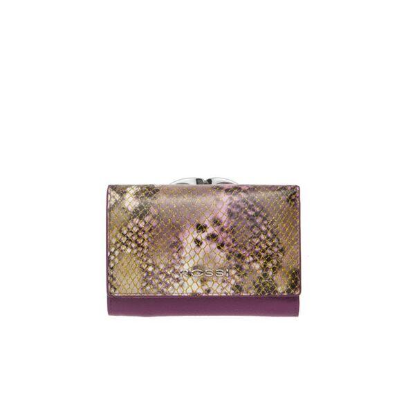 Малко дамско портмоне ROSSI, лилаво с релеф