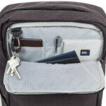 Раница Swissdigital, джоб за лаптоп, USB порт, тъкмнокафява