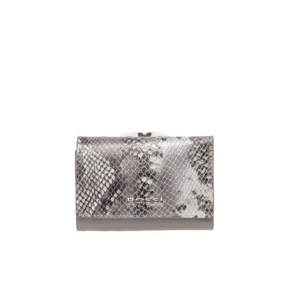 Малко дамско портмоне ROSSI, сиво с релеф