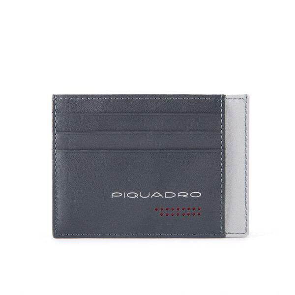 Калъф за кредитни карти Piquadro Urban, с 6 отделения, сив
