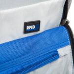 Раница Swissdigital, джоб за лаптоп, USB порт, черно със сиво