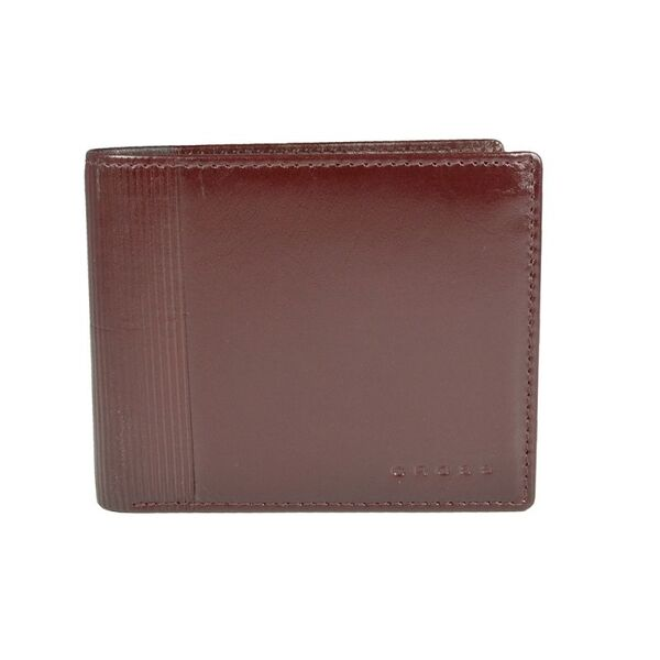 Мъжки портфейл Cross Vachetta Spine, с монетник и отделение за документи, Brandy