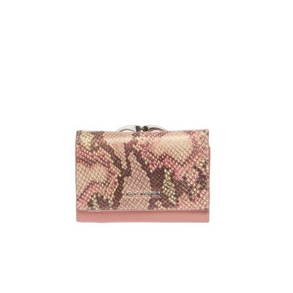Малко дамско портмоне ROSSI, розово с релеф