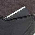 Раница Swissdigital, USB порт, тъмнокафяво и черно