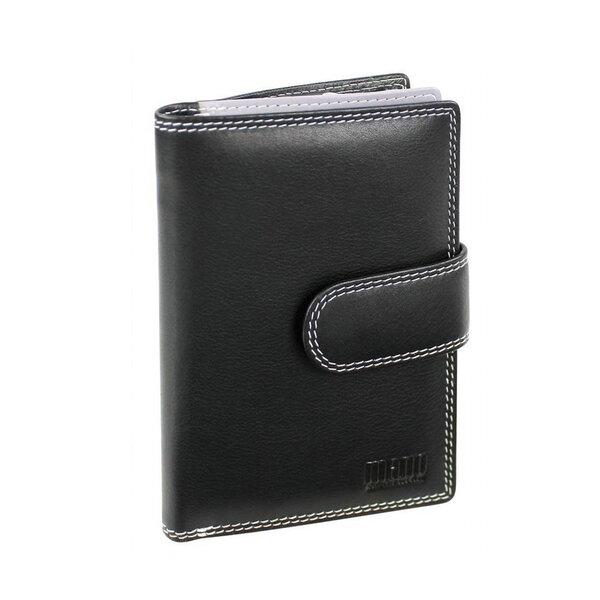 Дамски портфейл Mano Multicolorus с 9 отделения за кредитни карти, черен