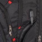 Бизнес смарт раница Swissdigital, джоб за лаптоп, USB порт, черна