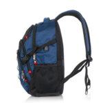 Бизнес смарт раница Swissdigital, джоб за лаптоп, USB порт, синя