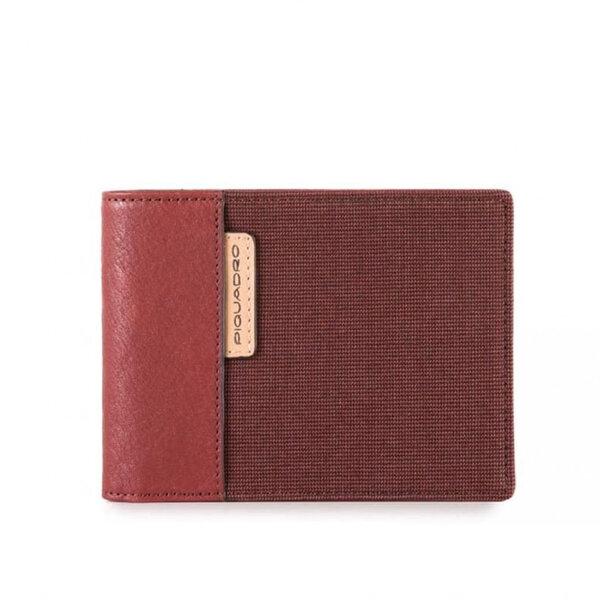 Мъжки портфейл Piquadro Blade , с 8 отделения за карти, червен