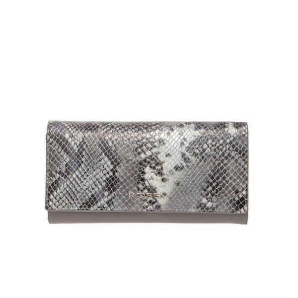 Дамско портмоне ROSSI, сиво с релеф