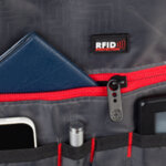 Раница Swissdigital, джоб за лаптоп, водоустойчива, тъмносива