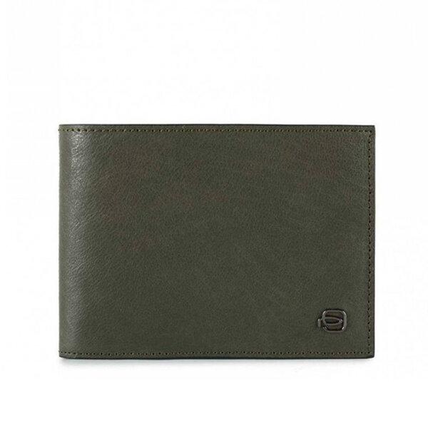 Мъжки портфейл Piquadro Black Square, с 12 отделения за карти и RFID защита, зелен