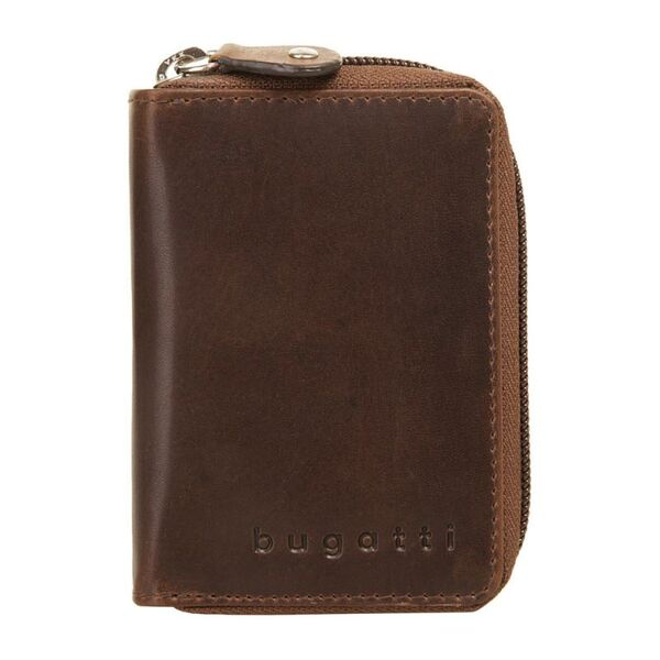 Кожен калъф за карти Bugatti Romano, RFID, естествена кожа, кафяв