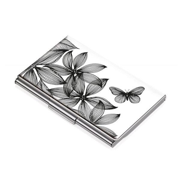 Визитник TROIKA - Black flowers