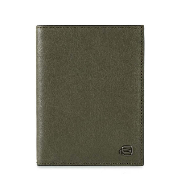 Вертикален мъжки портфейл Piquadro Black Square, зелен с RFID защита