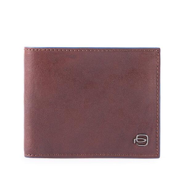 Мъжки портфейл Piquadro Black Square, с 5 отделения за карти и RFID защита, кафяв