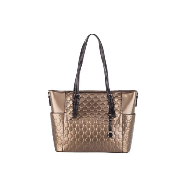 Лачена дамска чанта Pierre Cardin, златиста