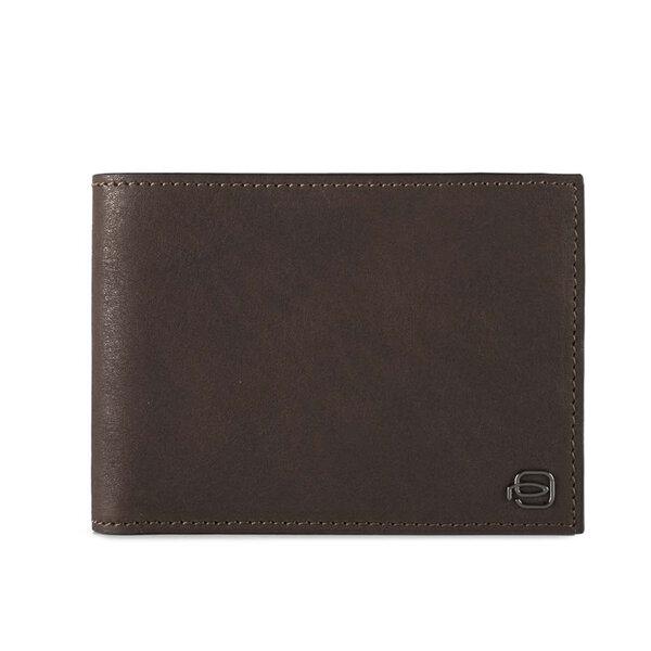 Мъжки портфейл Piquadro Black Square, с допълнително отделение, тъмно кафяв