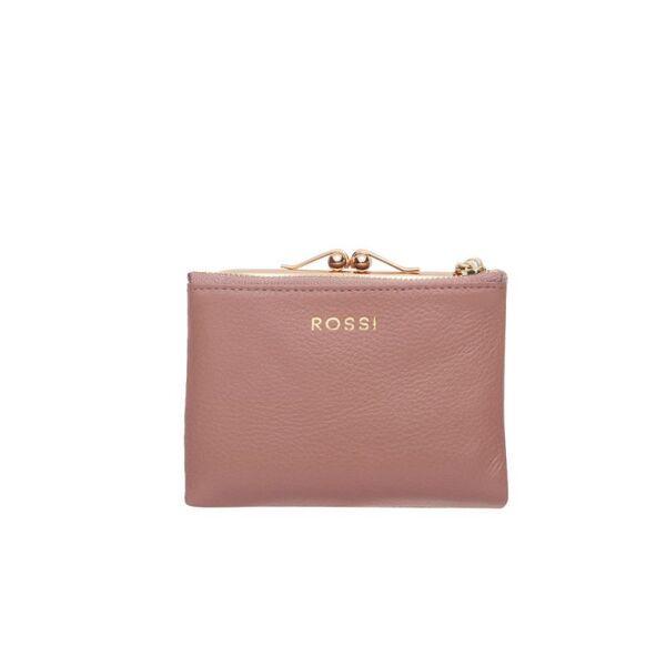 Дамско портмоне ROSSI, цвят перлено розово