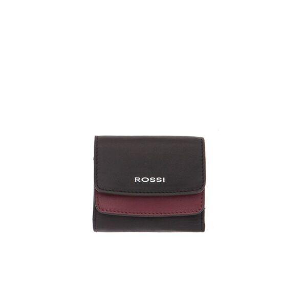 Дамско портмоне ROSSI, черно и бордо