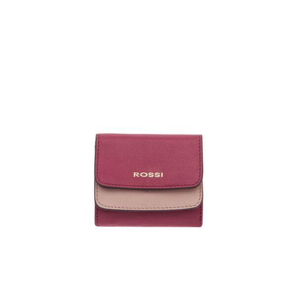 Компактно дамско портмоне ROSSI, цвят малина и розово