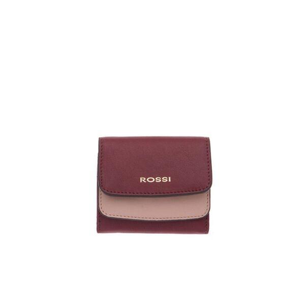 Дамско портмоне ROSSI, бордо и розово