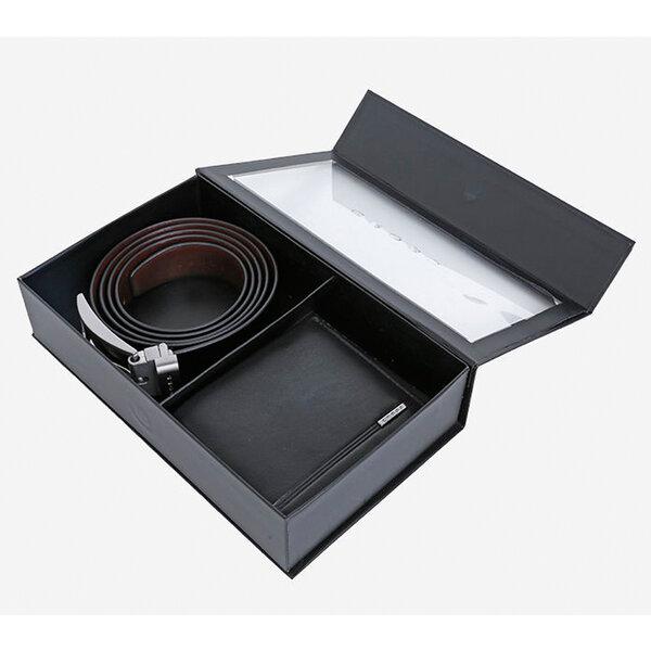 Комплект Cross - Century, портфейл и кожен колан, черни