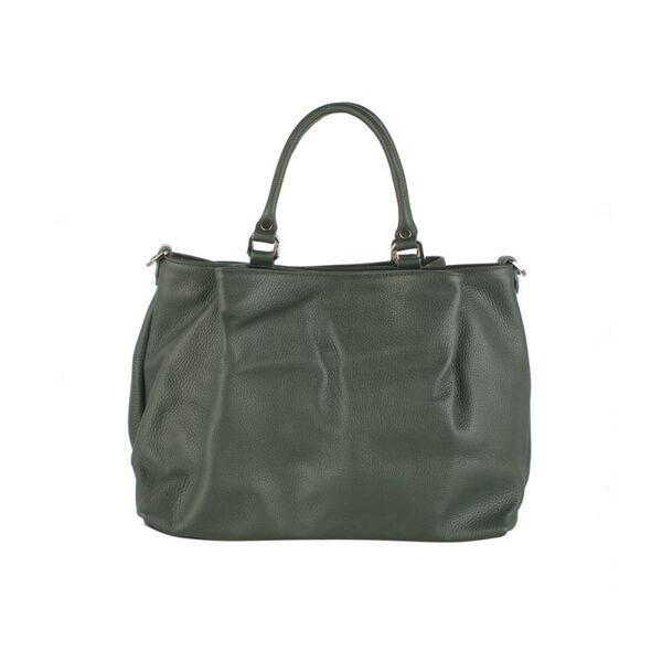 Голяма дамска чанта Pierre Cardin, тъмнозелена