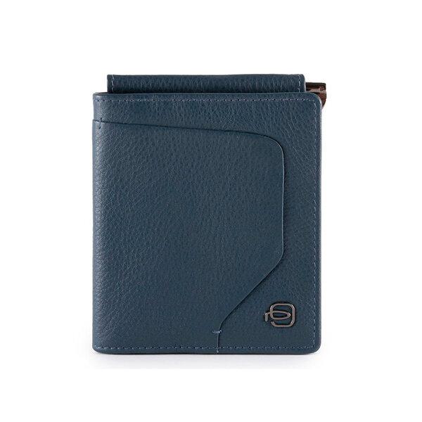 Вертикален мъжки портфейл Piquadro AKRON, с RFID защита, син