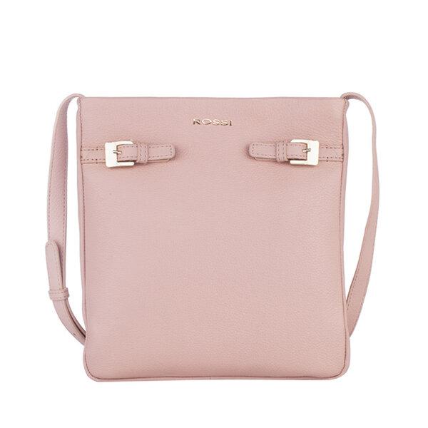 Дамска чанта ROSSI, перлено розова
