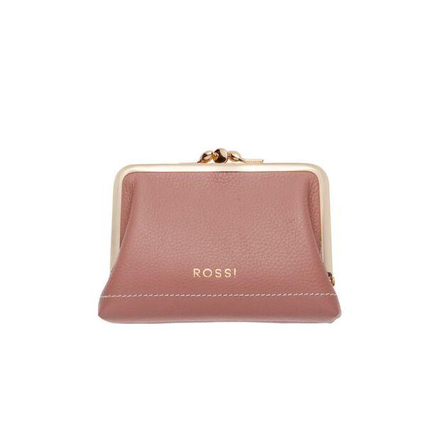 Дамско портмоне ROSSI,цвят перлено розово