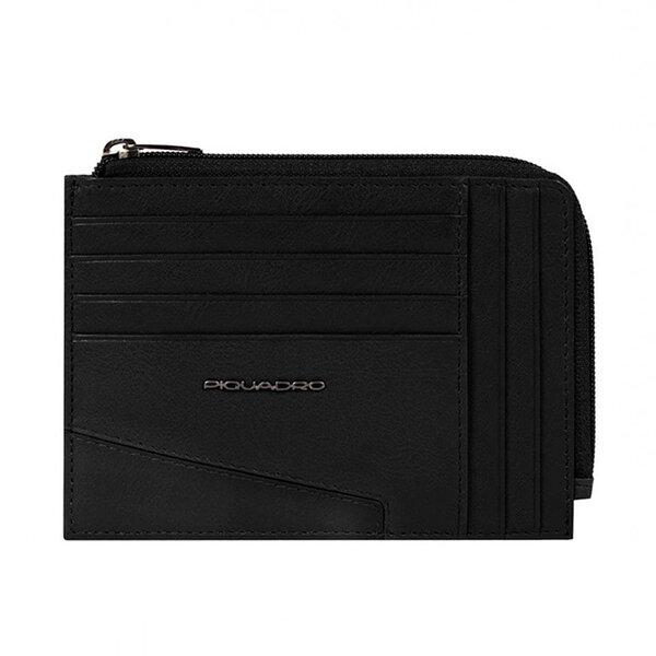 Кожен портфейл за документи Piquadro Hakone с RFID защита, черен