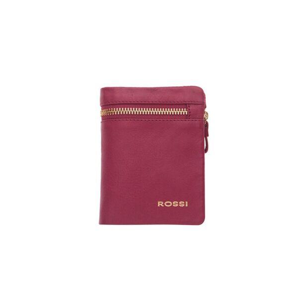 Малък дамски портфейл ROSSI, цвят малина