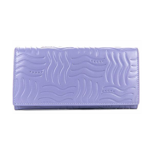 Дамски портфейл от естествена кожа Cross Charol Napa Lailac, лилав