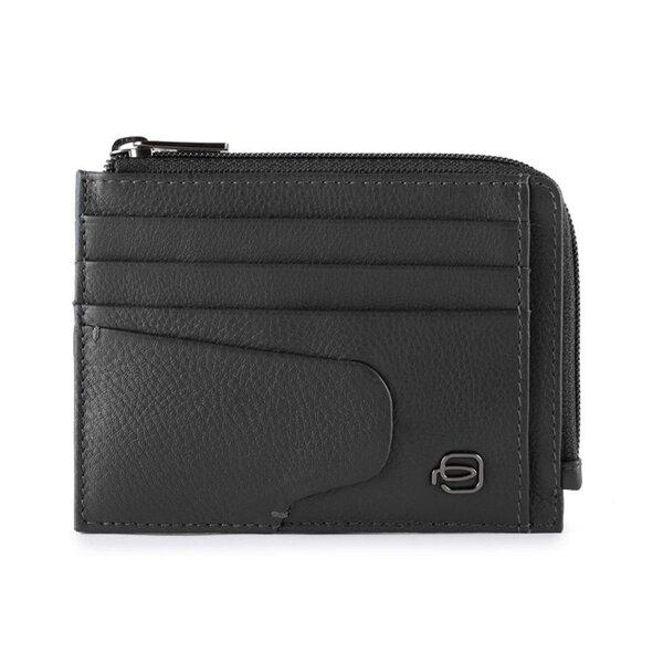 Кожен портфейл за документи Piquadro, черен