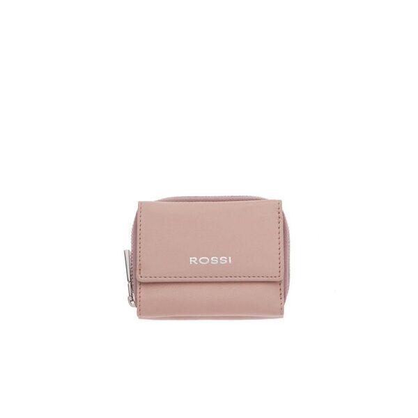 Компактно дамско портмоне ROSSI, цвят перлено розово
