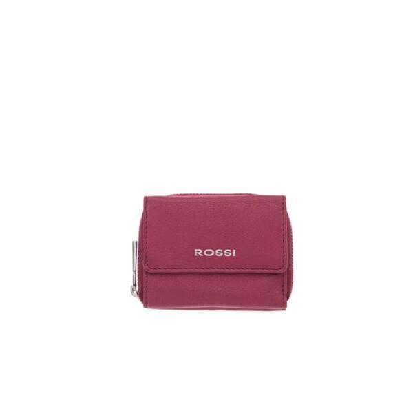 Компактно дамско портмоне ROSSI, цвят малина