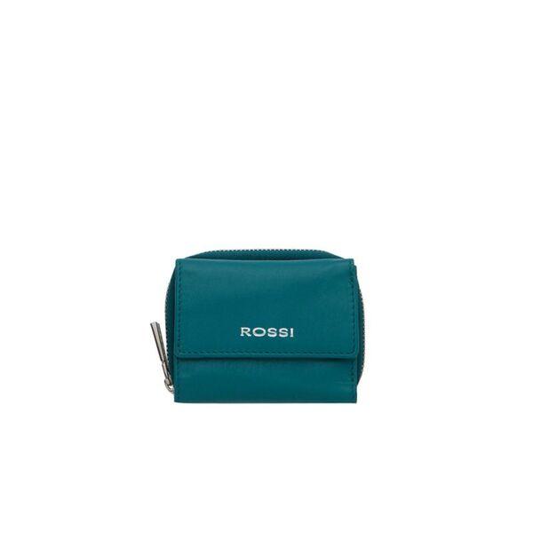 Компактно дамско портмоне ROSSI, зелено