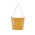 Дамска чанта ROSSI, жълт гланц