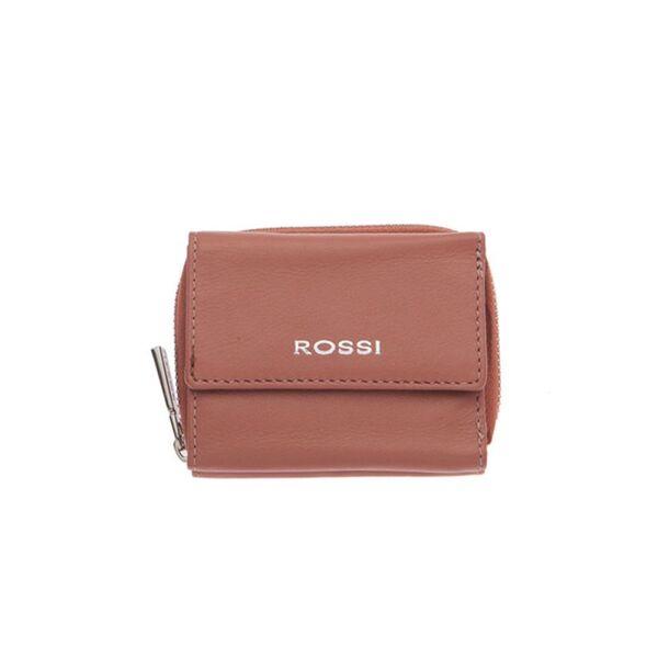 Компактно дамско портмоне ROSSI, цвят пепел от рози