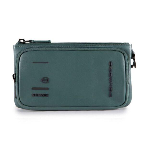 Дамски портфейл (клъч) Piquadro Kyoto с отделение за смартфон, зелен