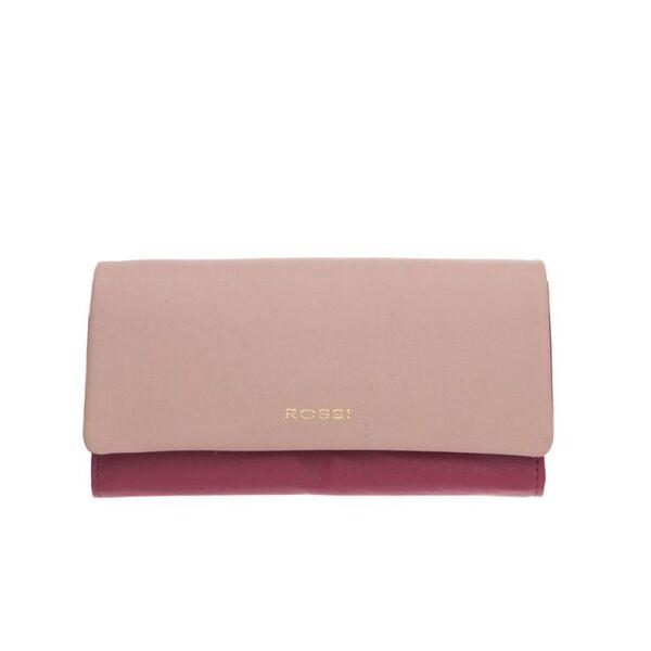 Дамско портмоне ROSSI, цвят малина и перлено розово