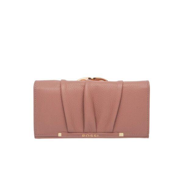 Дамски портфейл ROSSI, цвят перлено розов