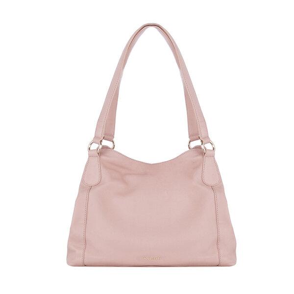 Дамска чанта ROSSI, цвят перлено розово